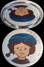 Taschenspiegel-Button Zwerg | Beleidigt