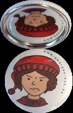 Taschenspiegel-Button Zwerg | Wütend