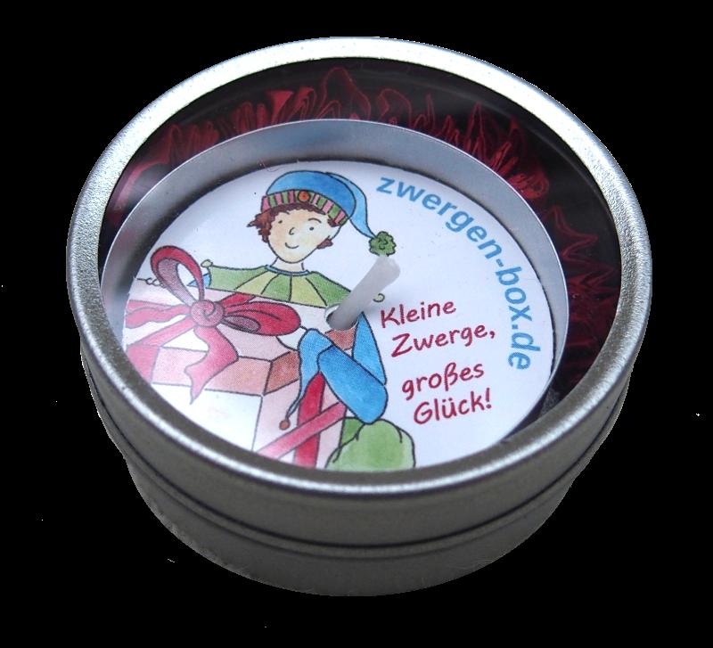 Talking Candle – Die Überraschungskerze mit Zwergen-Botschaft in Geschenkdose
