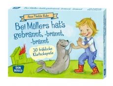 Original Don Bosco Bildkarten Bei Müllers hats gebrannt, -brannt, -brannt.  30 fröhliche Klatschspiele