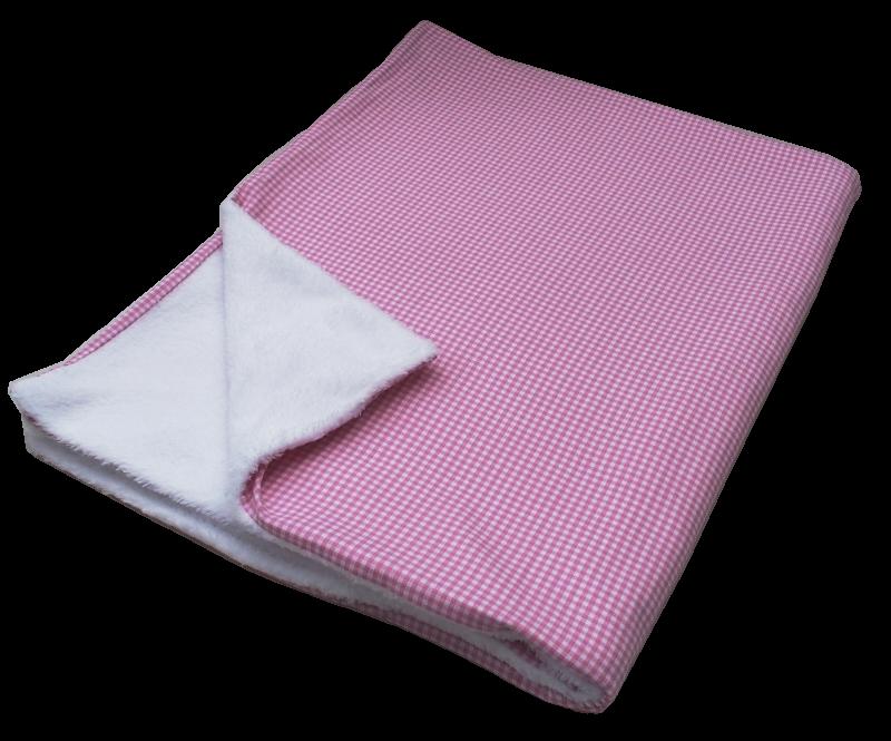 Babydecke Karo rosa - Manufaktur Kleine Könige