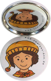 Taschenspiegel-Button Zwerg | Stolz