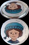 Taschenspiegel-Button Zwerg | Einsam
