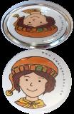 Taschenspiegel-Button Set Gefühle Zwerge (9 Stück)