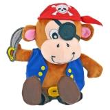 Laber-Piraten Affe Jack, inkl. Batterien, 18x18,5x13cm