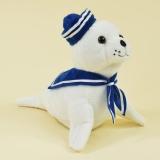 Laber-Matrosen Seehund Skibi, plappert alles nach, inkl. Batterien, 20x13,5x18cm