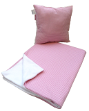 Set Kissen und Babydecke Karo rosa - Manufaktur Kleine Könige