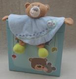 HABA Schmusetuch Kuschelfreunde Bär, blau (in Geschenkbox)