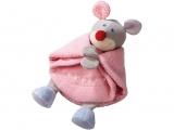 HABA Schmusetuch Kuschelfreunde Maus, rosa (in Geschenkbox)