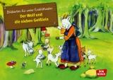 Original Don Bosco  Kamishibai Bildkartenset. Der Wolf und die sieben Geißlein