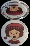 Taschenspiegel-Button Zwerg | Ängstlich