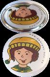 Taschenspiegel-Button Zwerg | Albern